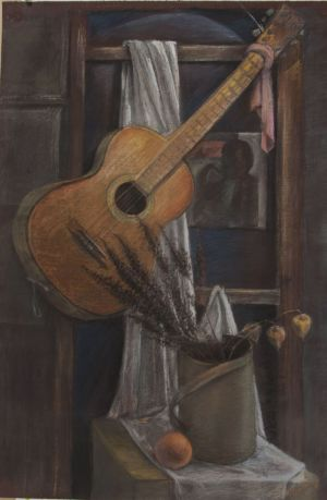 Graphics, Realism - Still life with guitar