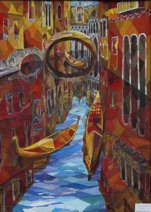 Painting, City landscape - Veneciya
