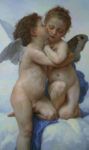 Painting, Mythological genre - Amur-i-Psiheyakopiya-s-kartiny-Bouguereau