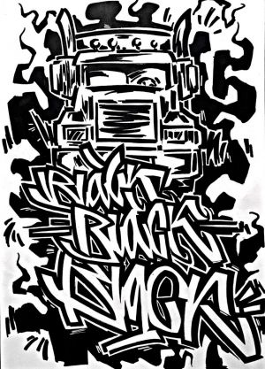 Graphics, Expressionism - Black