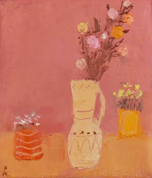 Painting, Still life - Dry flowers