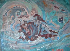Painting, Mythological genre - Pohishchenie-Evropy