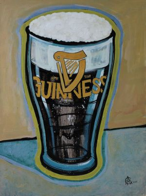 Painting, Still life - Guinness
