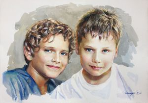 Graphics, Portrait - Brothers