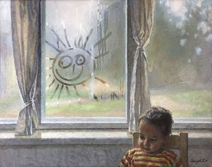 Painting, Realism - Let there always be sunshine!