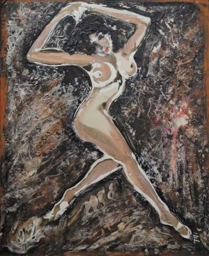 Graphics, Nude (nudity) -  Light dance