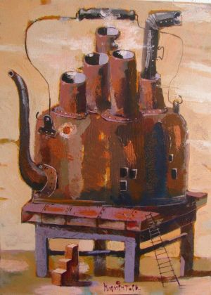 Painting, Symbolism - Big-teapot