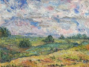 Painting, Landscape -  field