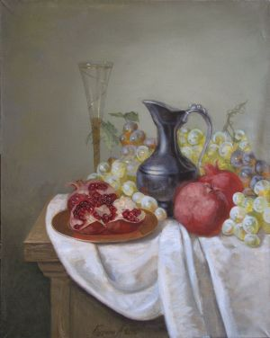 Painting, Still life - Still Life with Pomegranate