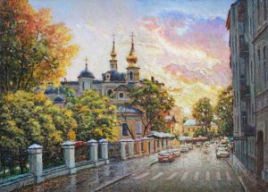 Painting, Impressionism - Urban autumn