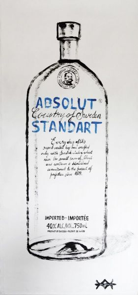 Painting, Pop Art - Vodka-Absolut-Standart