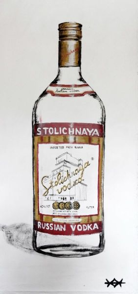 Painting, Still life - Vodka-Stolichnaya