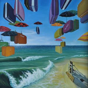 Painting, Surrealism - Emigraciya