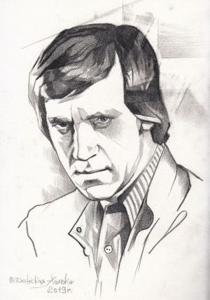 Graphics, Portrait - vladimir vysotsky