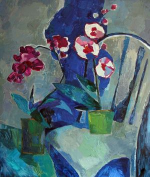 Painting, Still life - Two orchids