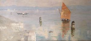 Painting, Landscape - «Venice» (copy of the picture artist Polenov)