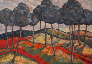 Painting, Expressionism - Marvelous forest
