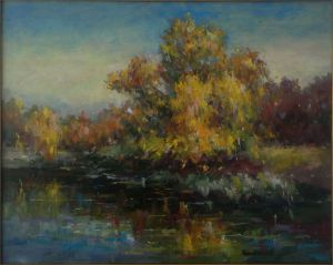 Painting, Landscape - autumn Creek