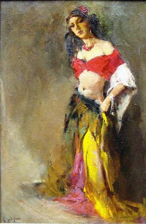 Painting, Figurative painting - Gypsy