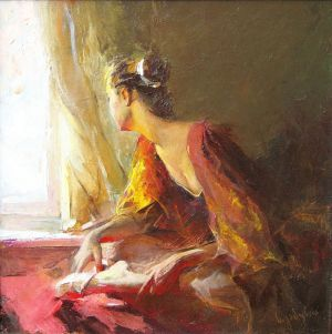 Painting, Figurative painting - Sun in the window 2