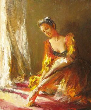 Painting, Figurative painting - Sun in the window