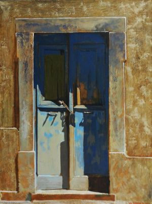 Painting, City landscape - The-Door