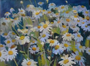 Painting, Realism -  daisies
