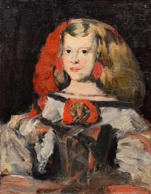 Painting, Realism - A copy of a painting of Velazquez - portrait of the Infanta Margarita