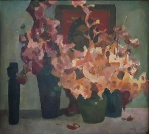 Painting, Impressionism - Autumn bouquet