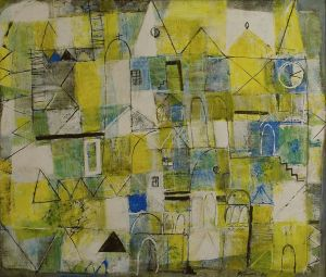 Painting, Primitivism - City