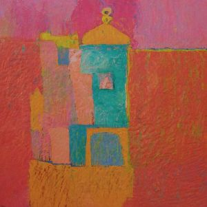 Painting, Abstractionism - Temple on a column