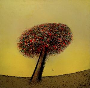 Painting, Naive Art - Tree