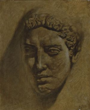 Painting, Academism - Warrior head