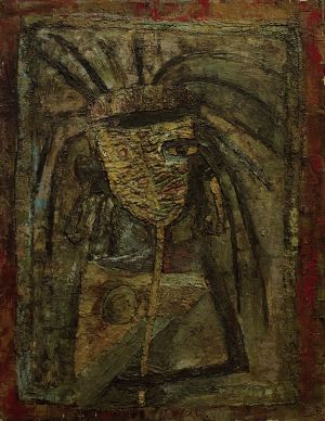 Painting, Abstractionism - Girl in mask