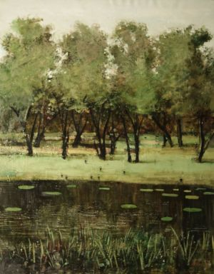 Painting, Expressionism - Pond