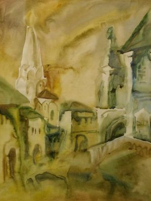 Graphics, Watercolor  - Trinity. Zosima and Savvatius Church