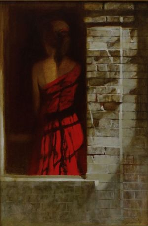 Painting, Academism - Red dress