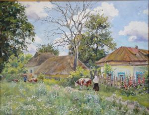 Painting, Landscape - A look into the past with. Volkovtsy «