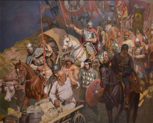 Painting, Historical genre - Russian regimen