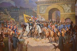Painting, Historical genre - The triumphal March of the Russian liberation army. Paris 1814