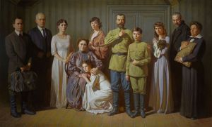 Painting, Historical genre - the underworld of Ipatiev house