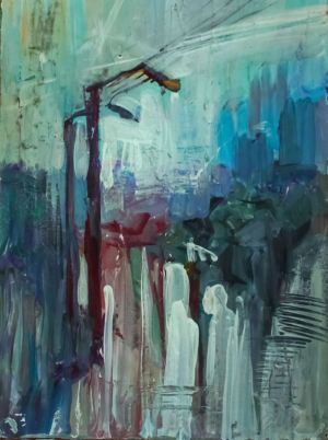 Painting, Expressionism -  After the rain