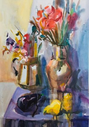 Painting, Still life -  All flowers