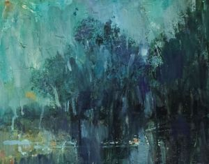 Painting, Expressionism - Spring Flood. Rain