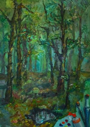 Painting, Landscape - In the most forests