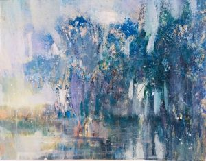Painting, Expressionism - Forest under water