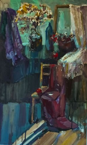 Painting, Expressionism -  Through the open door
