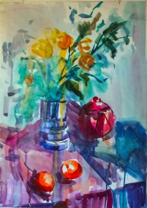 Painting, Still life -  light breakfast