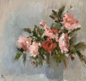 Graphics, Impressionism - bouquet of may roses