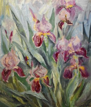 Painting, Still life - Irises